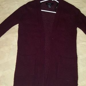 Forever 21 Maroon Sweater w/double front pockets